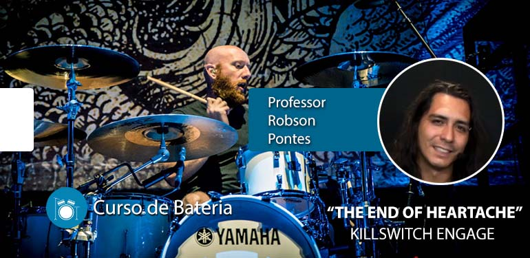 The End Of Heartache – Killswitch Engage – Aula de Bateria